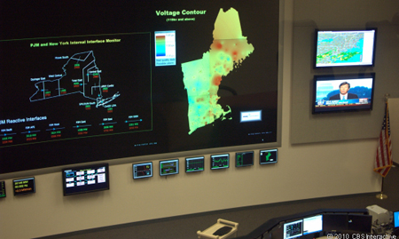 Voltage Map (right) and Monitor of Neighbouring Power Grid (left)