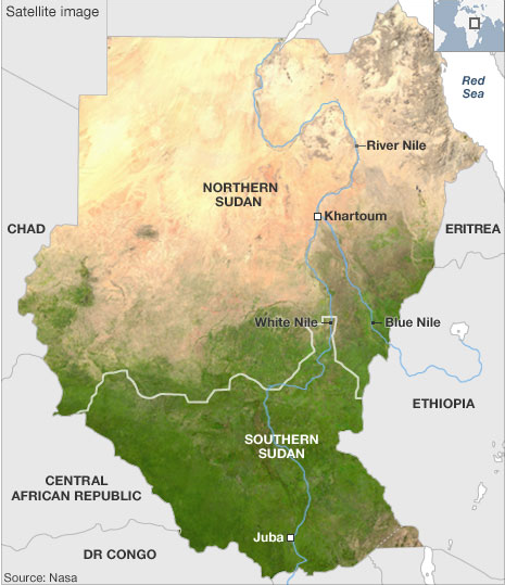 Map of Southern Sudan