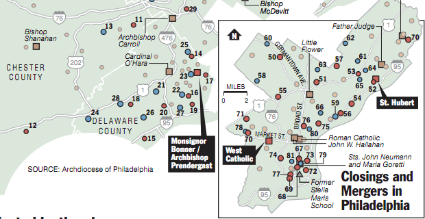 Cropping of the School Closures in the Archdiocese of Philadelphia