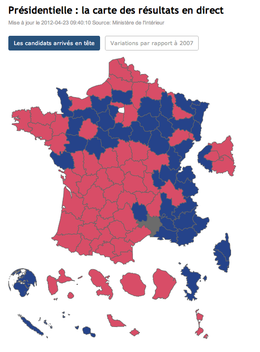 Election results by French department