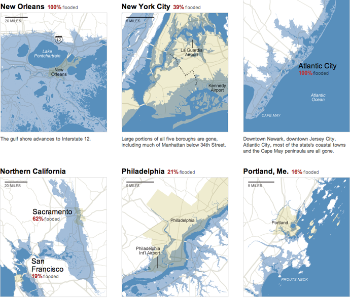 The impacts of a 25-foot rise in sea level
