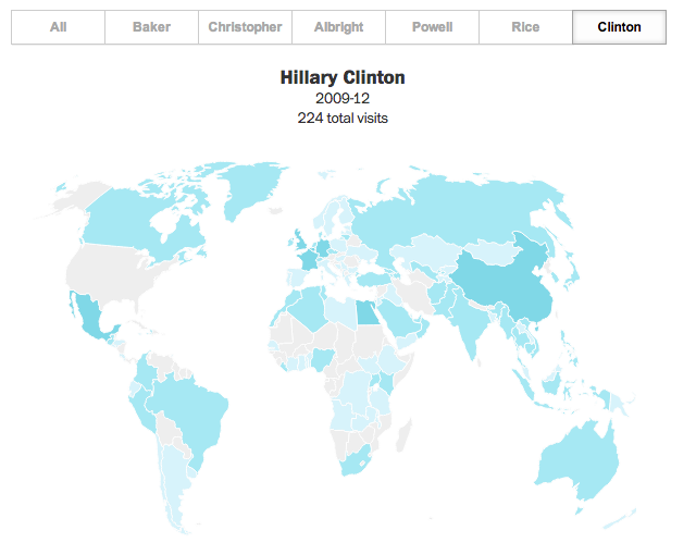 Hillary Clinton's trips abroad