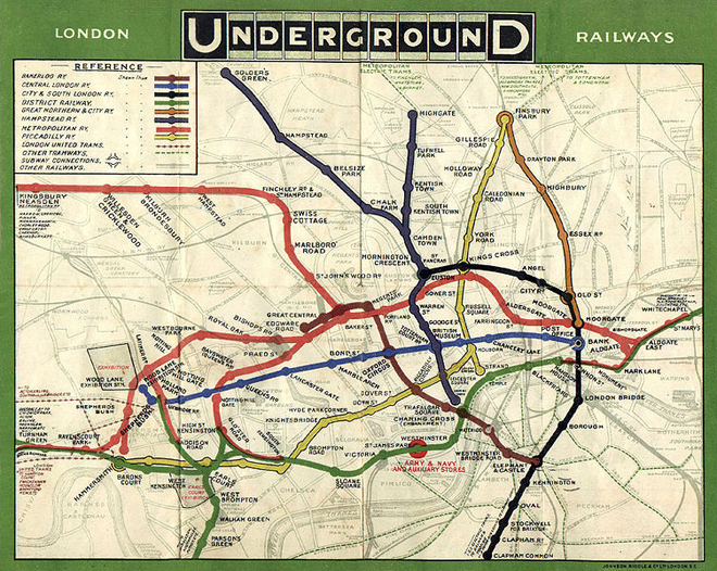 The first map of the combined lines