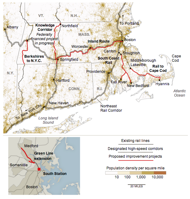 Proposed Massachusetts railway network expansion