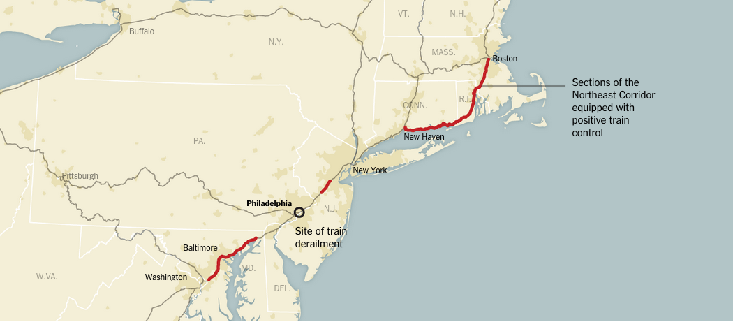 Positive train control implemented on the Northeast Corridor