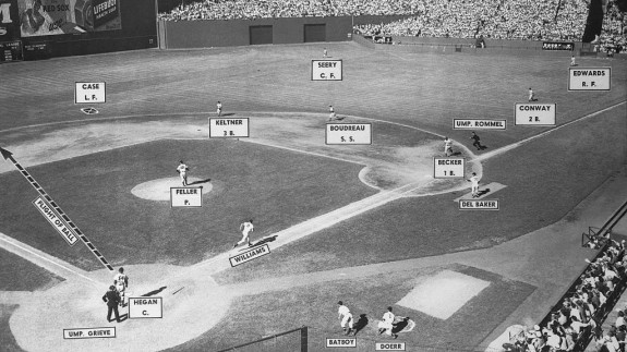 Who's on first? Not Ted Williams after his at bat.