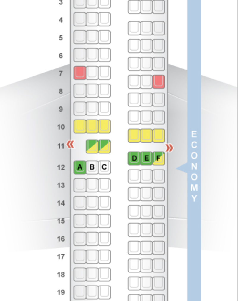 The 737-700 layout from SeatGuru.com