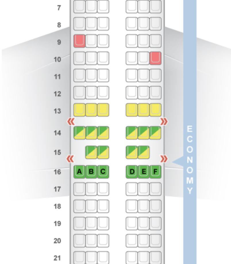 The 737-800 layout from SeatGuru.com