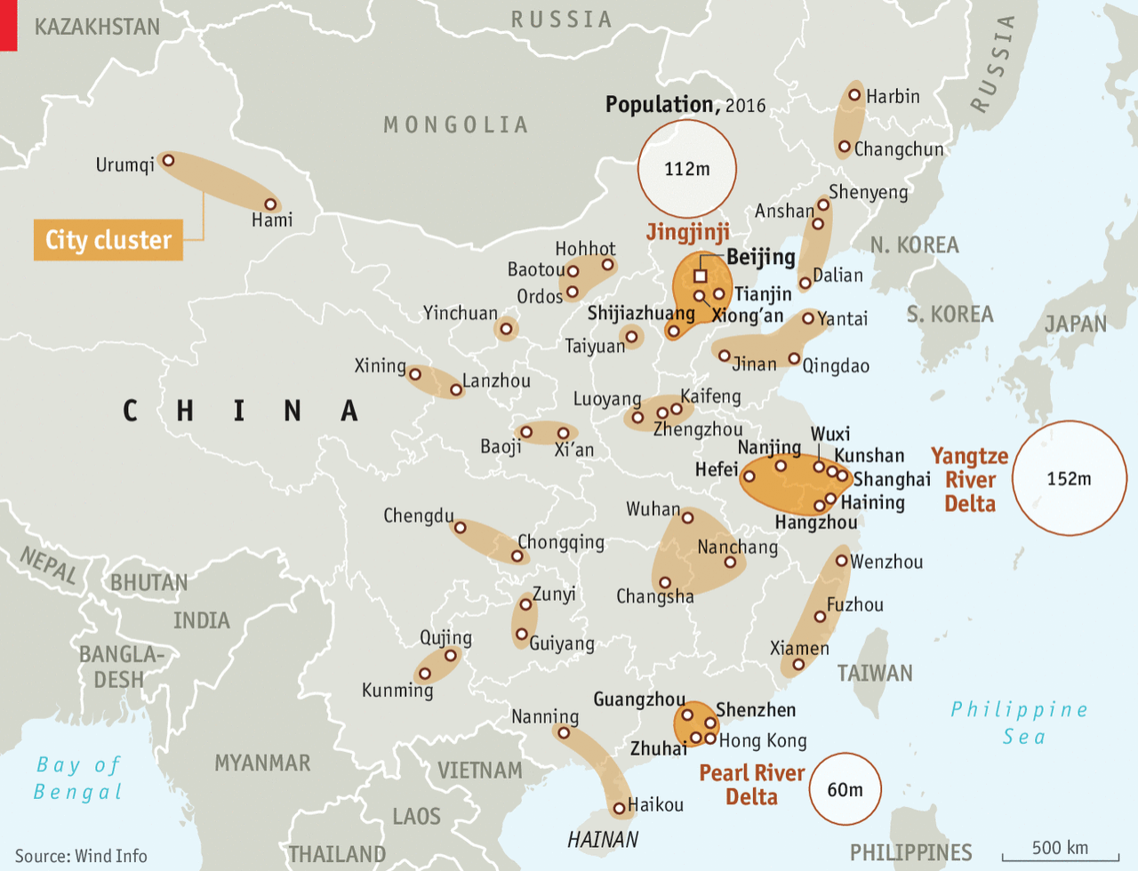 The Chinese government's new urban cluster plan
