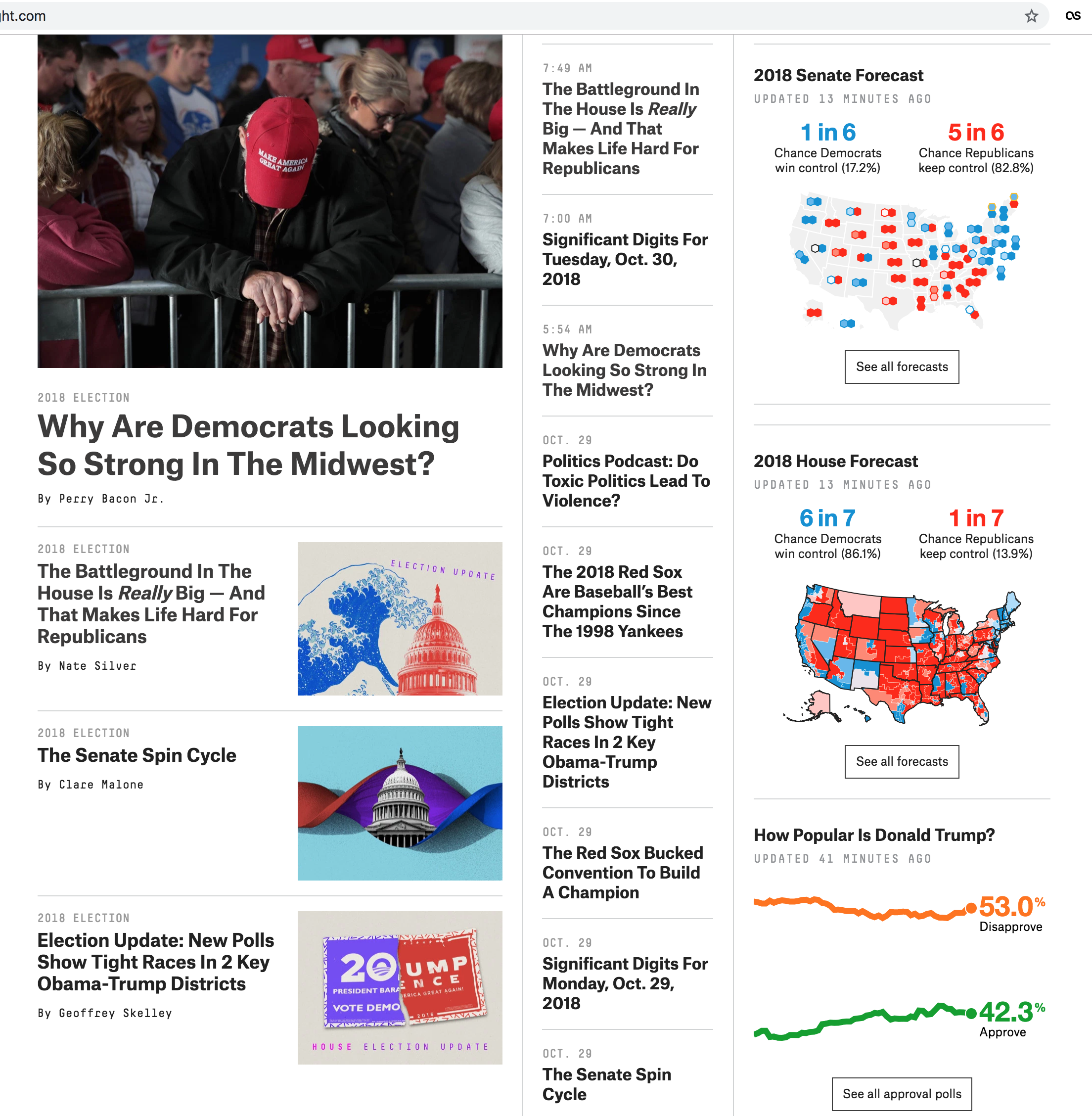 The homepage as of 30 October