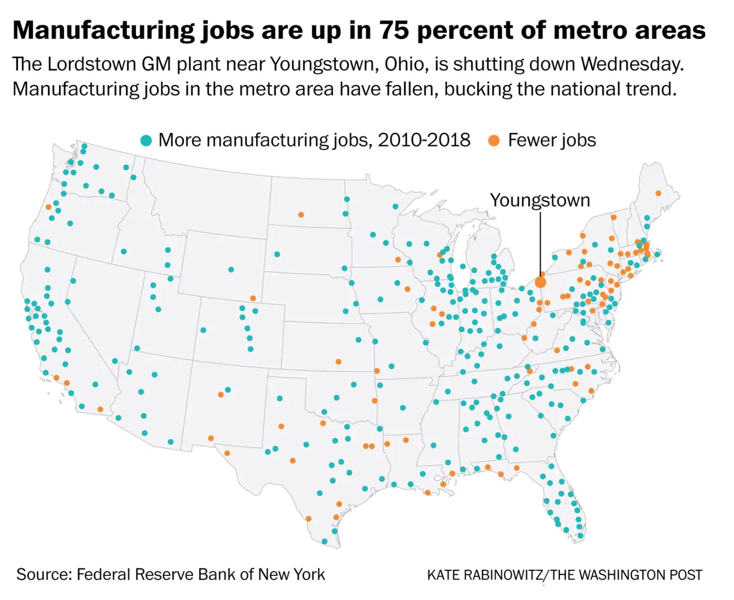 Quite a few locales in the Northeast haven't rebounded