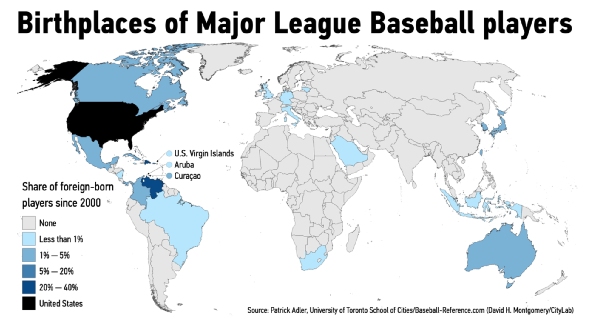 There are quite a few players from countries around the Caribbean.