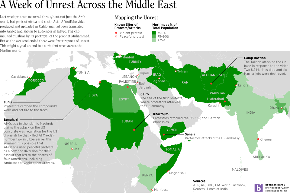 Map of Muslim Unrest; click for the full-size view