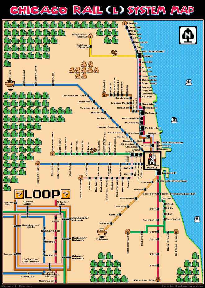 Chicago CTA Map