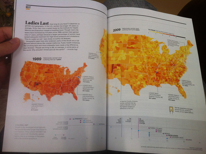 The National Geographic spread