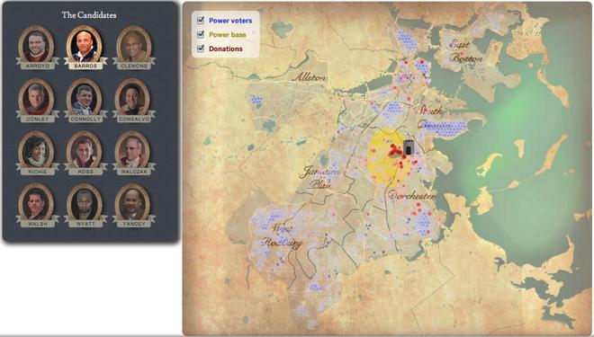 Boston mayoral candidate map