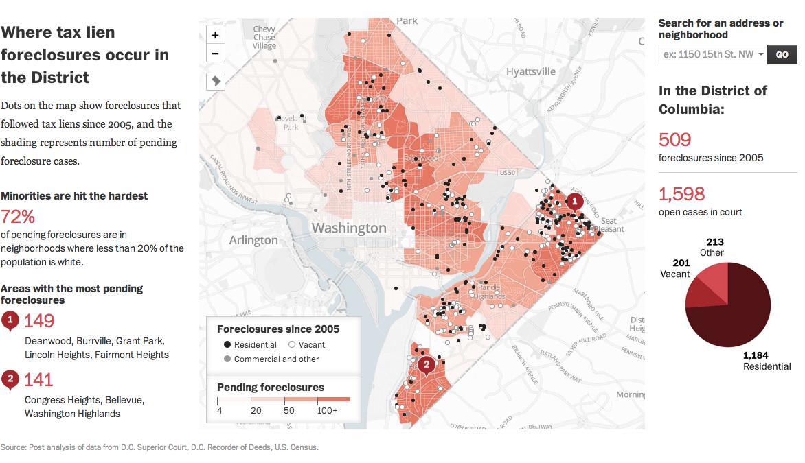 DC foreclosure map