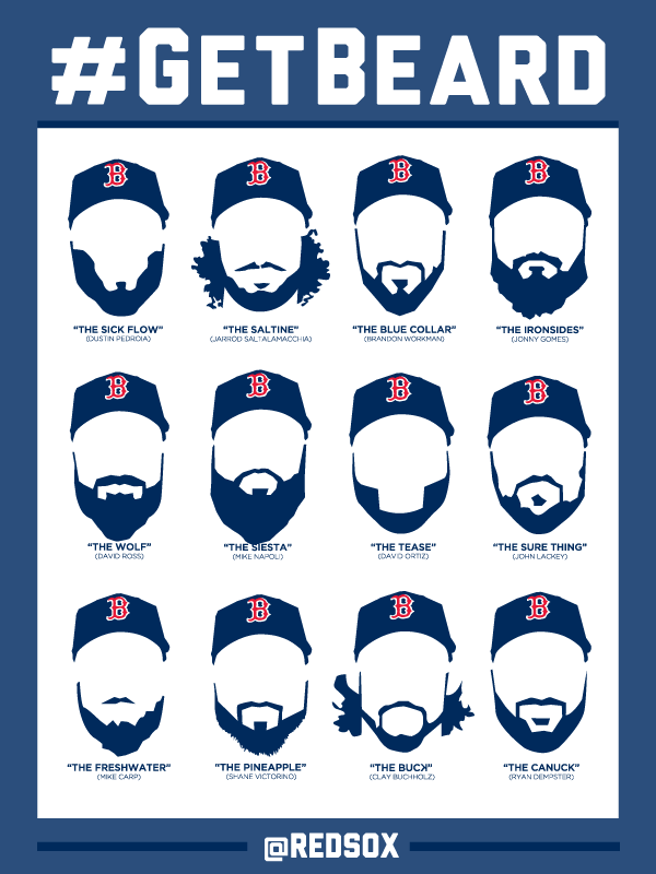 The Red Sox beards