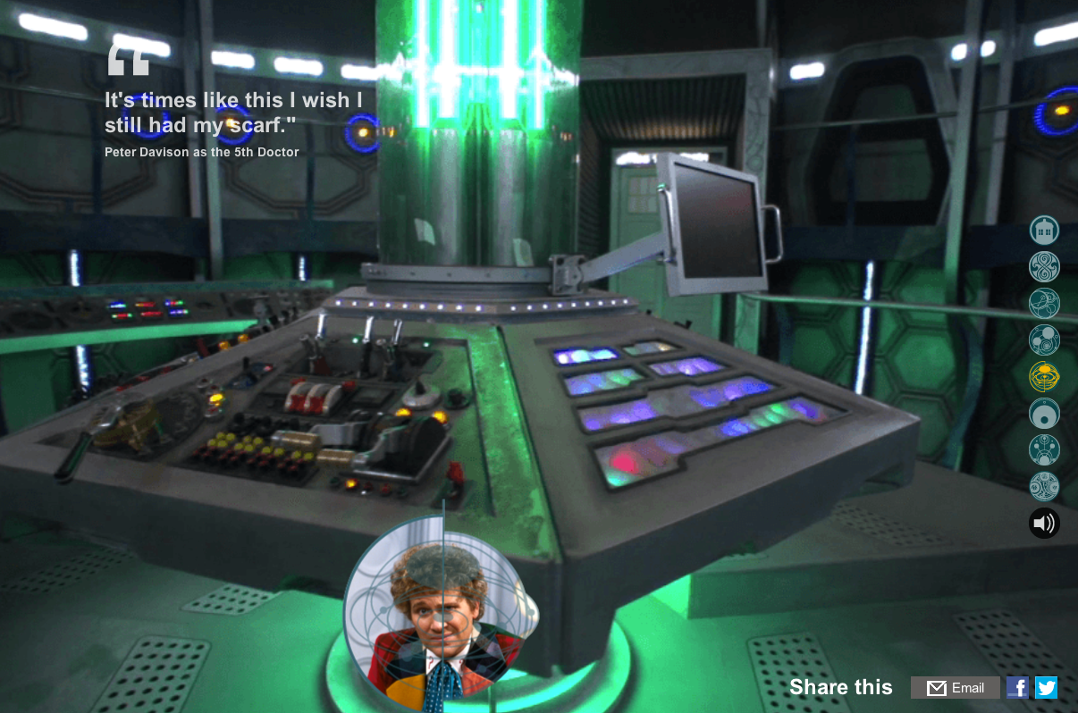 The BBC's inside the TARDIS