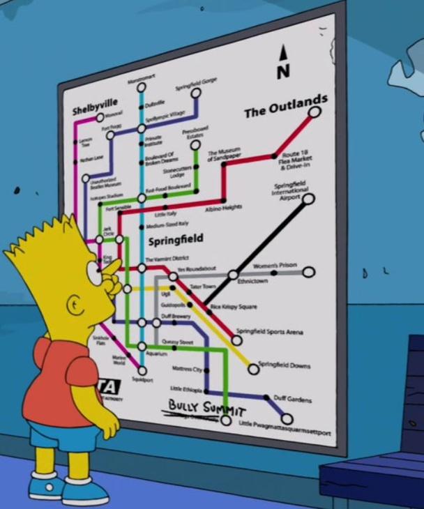Springfield's transit map