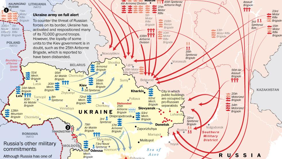 The buildup along the Russian–Ukrainian border