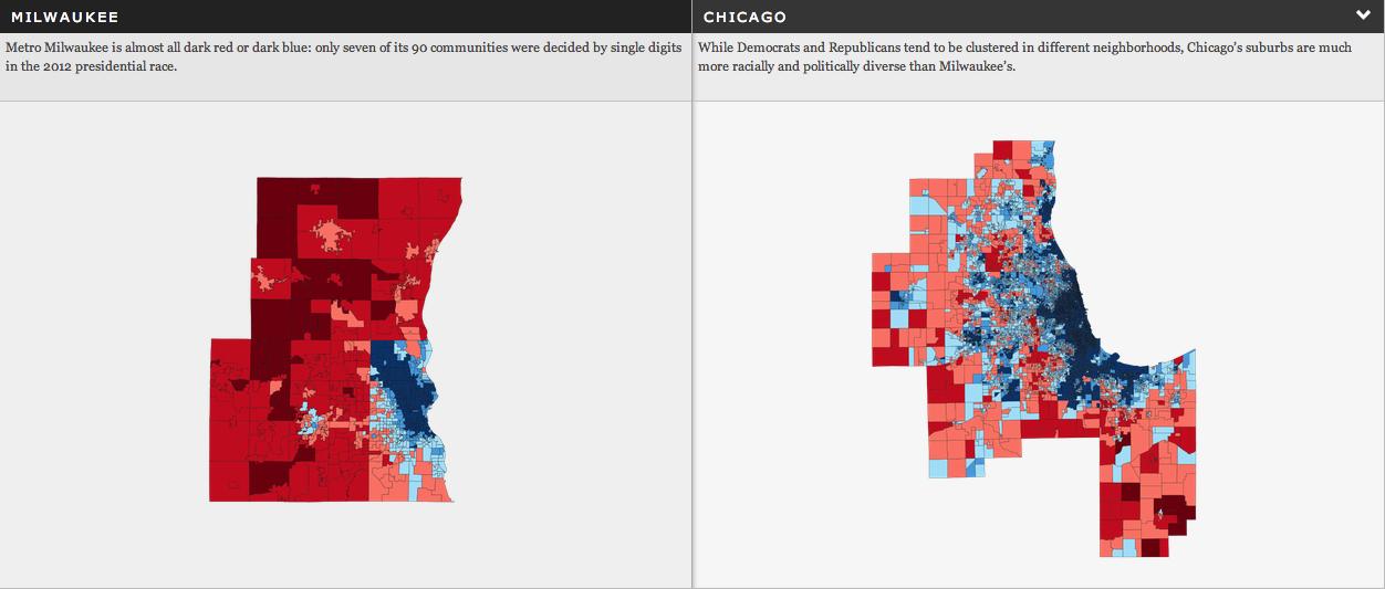 Comparing Milwaukee urban vs. suburban voting patterns