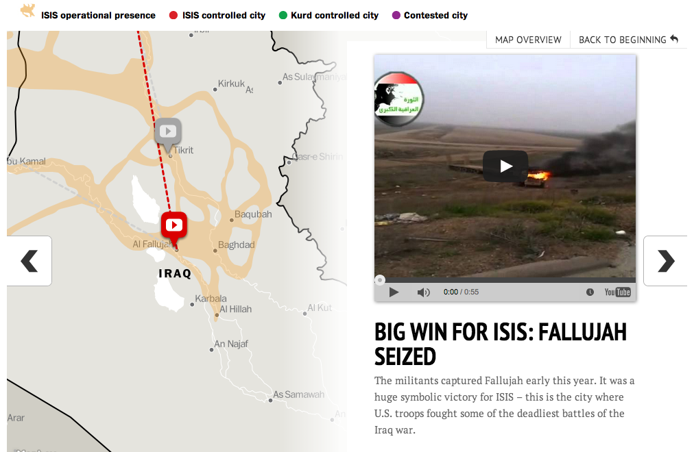 Guide to the spread of ISIS