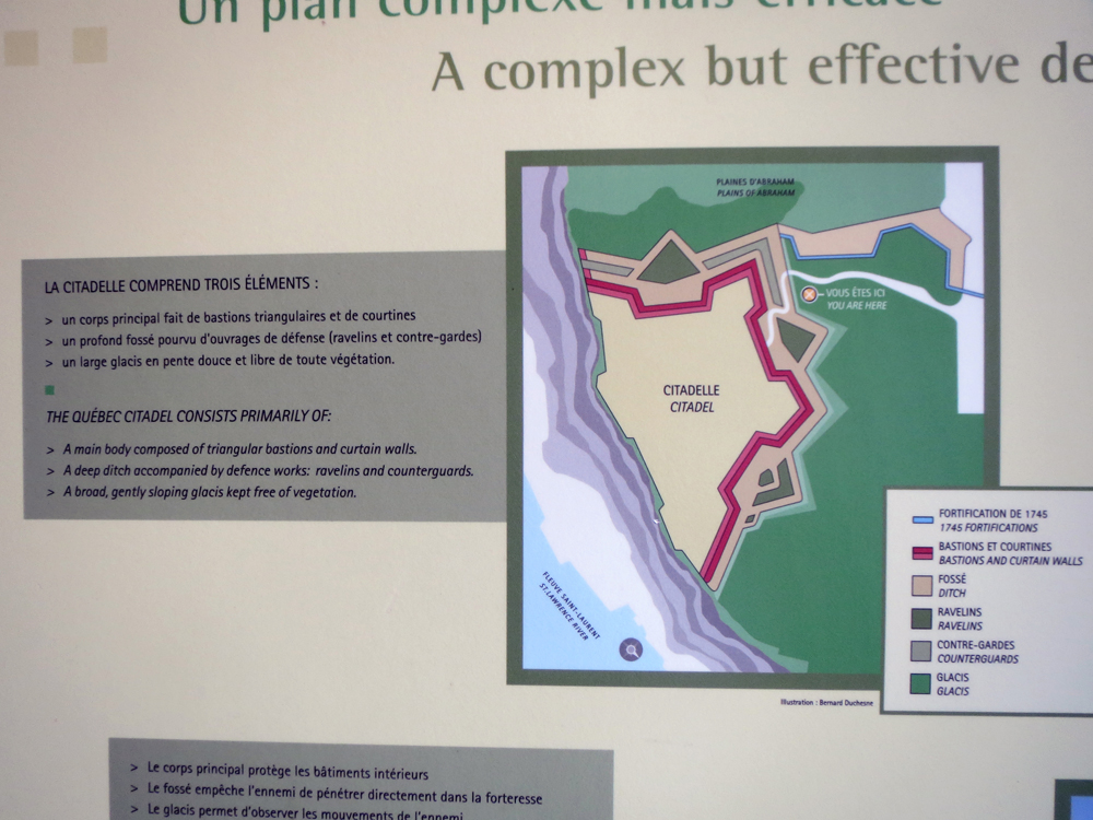 Colour-coded map of the fortification