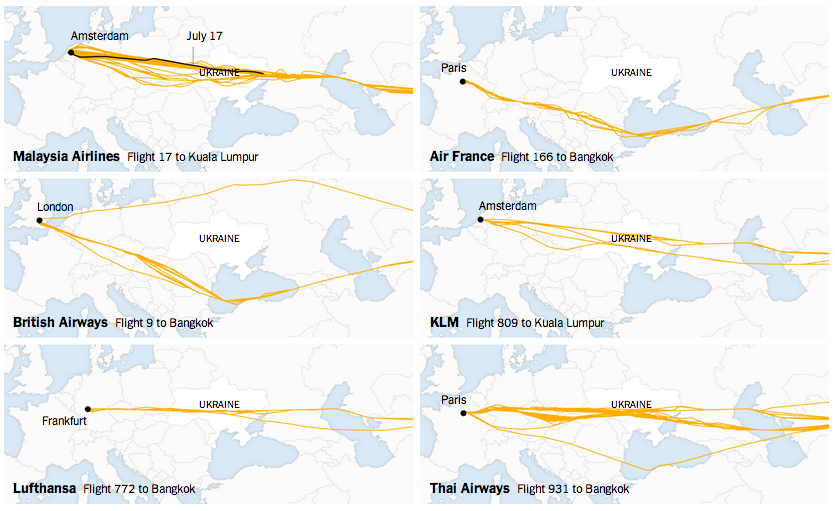 Not all airlines have flown over Ukraine