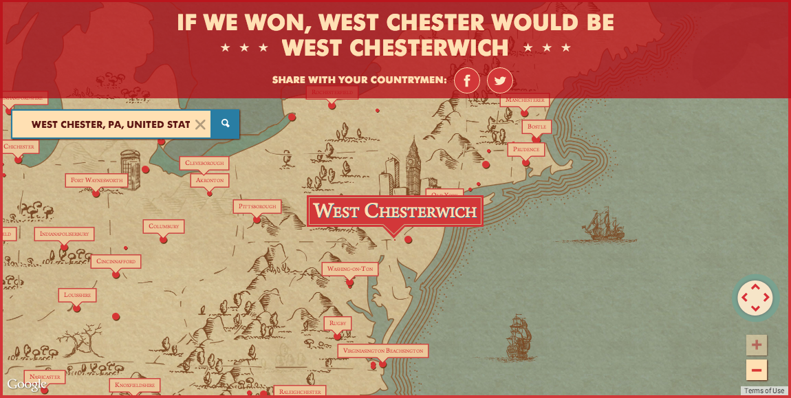 I would have grown up in West Chesterwich
