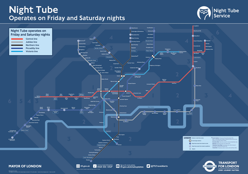 The official TfL map
