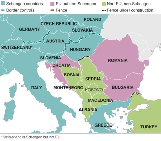 EU border map
