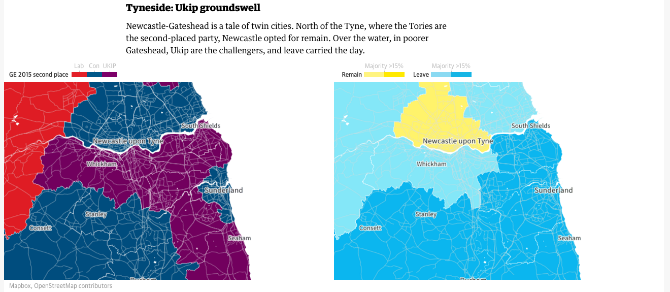 Votes along the Tyne