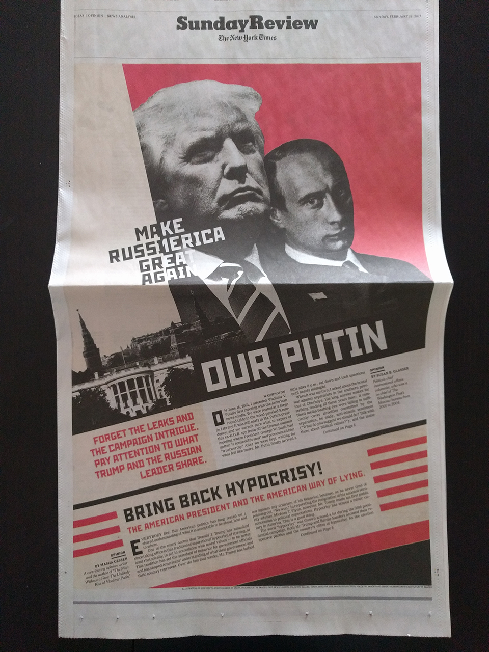 In Soviet Russia, newspaper reads you…