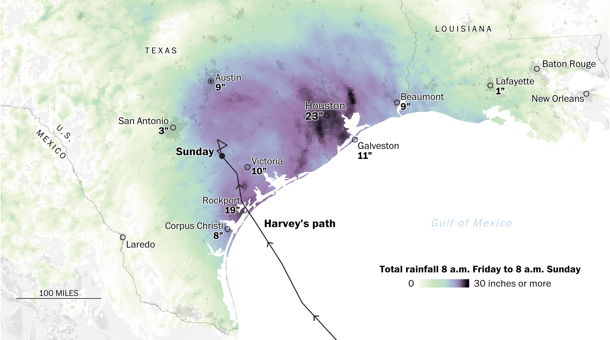 The Post's rainfall graphic