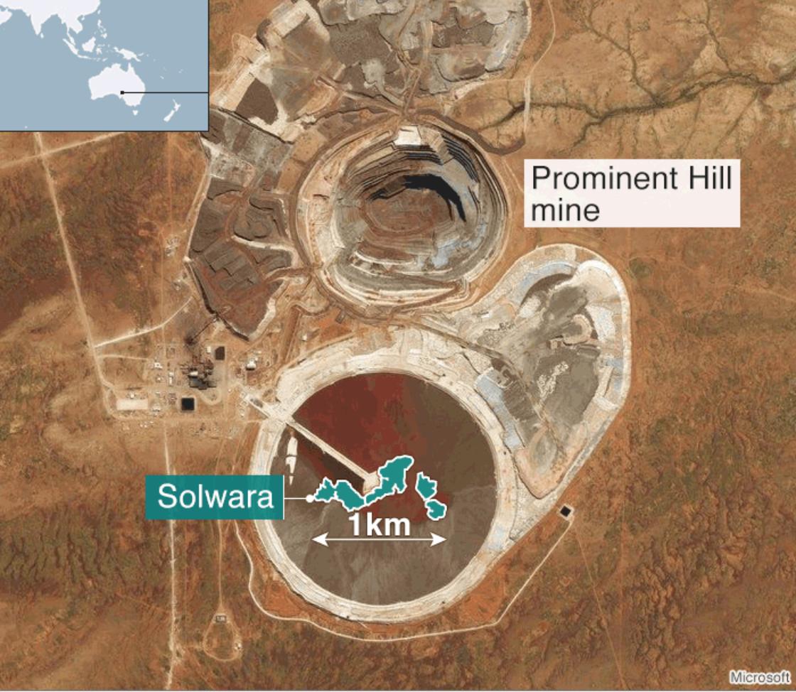 An undersea mine vs. a surface mine