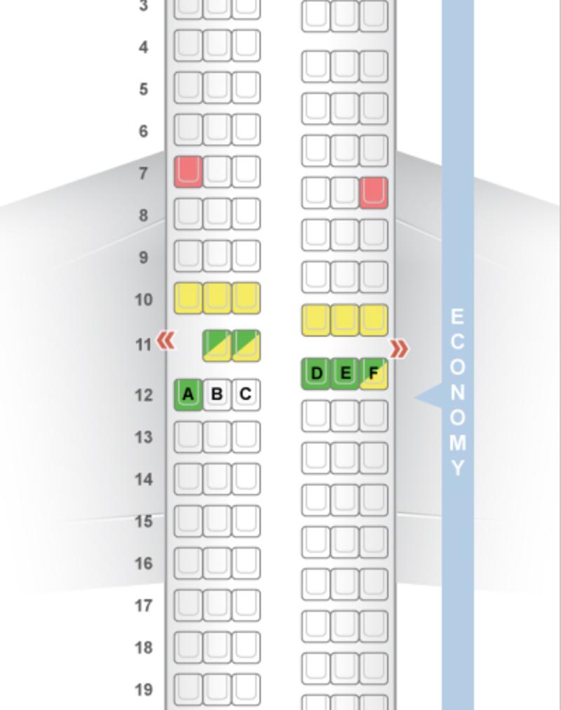 The 737-700 layout from SeatGuru.com