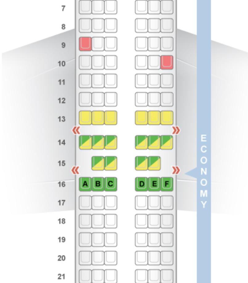 The 737-800 layout from SeatGuru.com