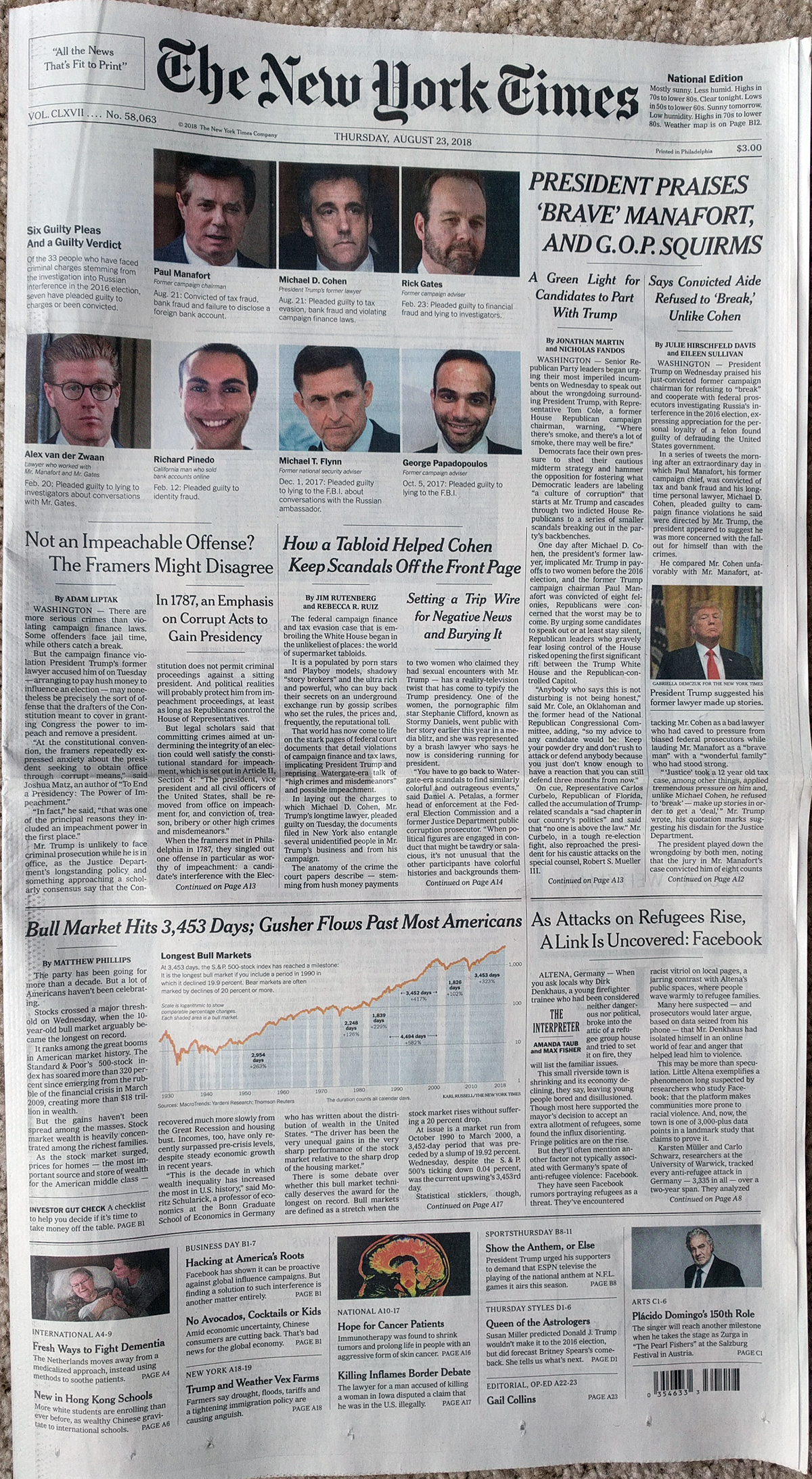 The front page design
