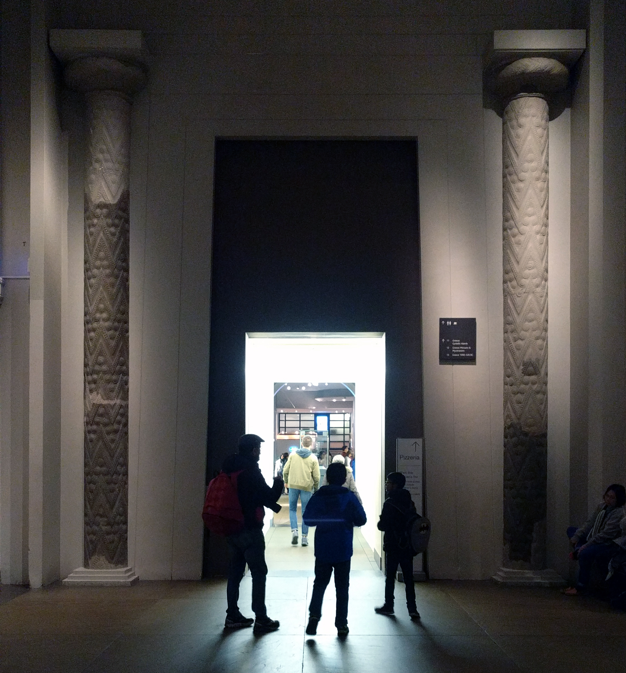 The actual columns, or parts thereof, of the Treasury of Atreus