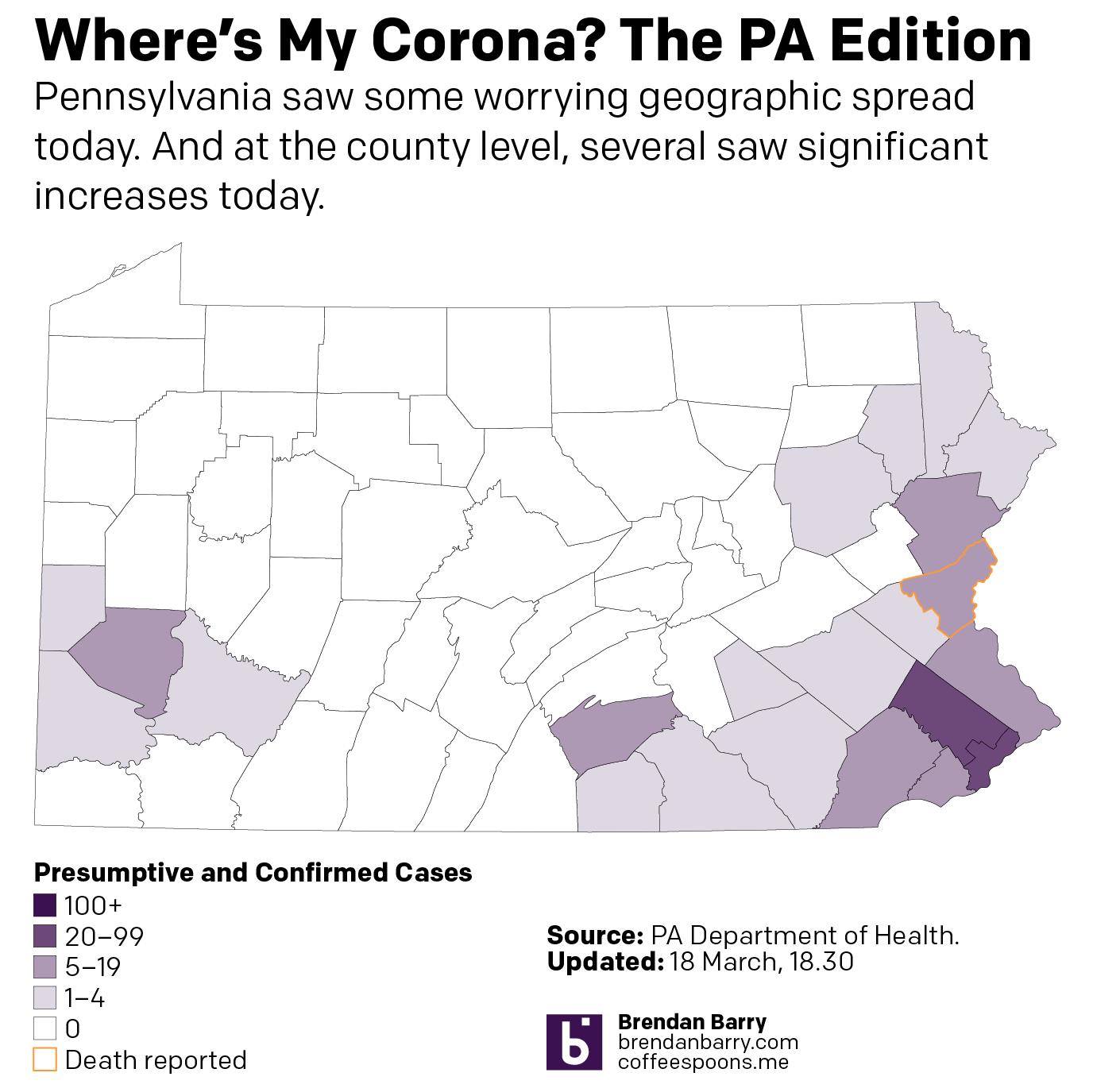 19 March county wide spread of COVID-19